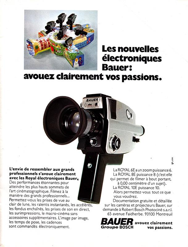 bauer royal 6e 8e makro 10e super 8 camera manual